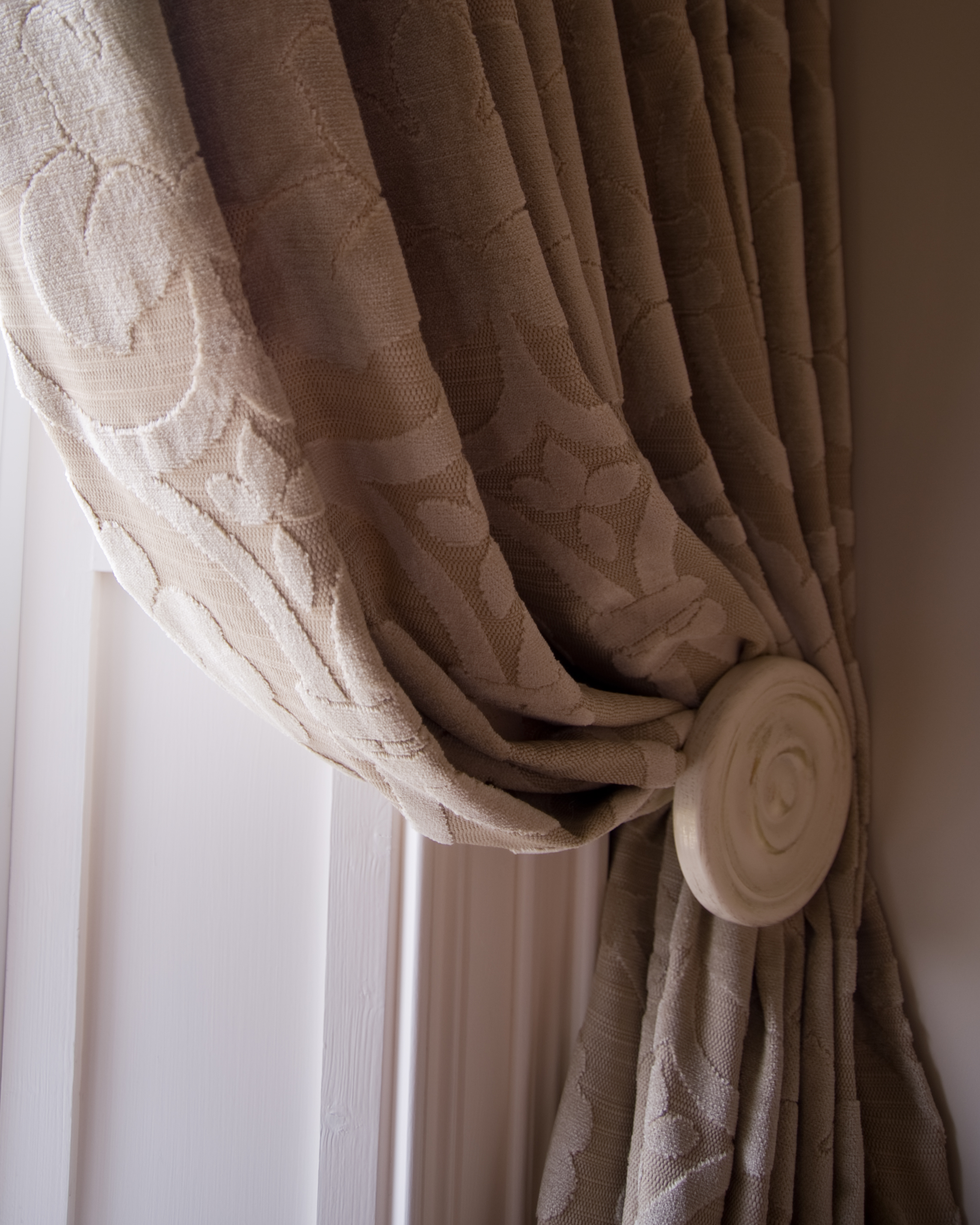 Neutral Textured Curtains