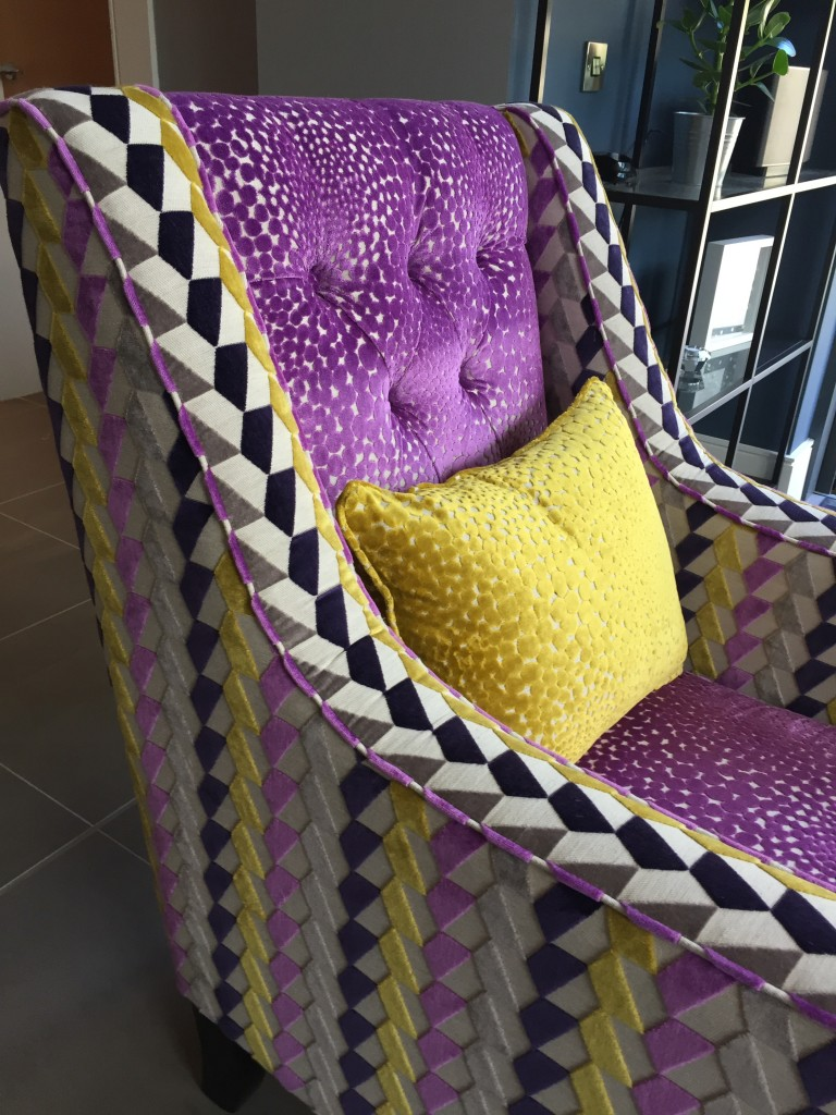 Beautiful made to order deep buttoned chairs